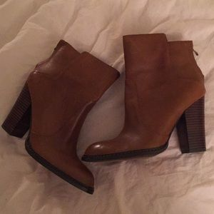 Shoes - Leather Booties New!